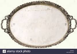 Silver Tray For Ottoman An Ottoman Silver Tray End Of The 19th Century Oval Tray With