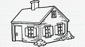 how to draw a house for kids youtube