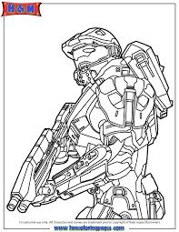 master chief holding gun coloring page h u0026 m coloring pages