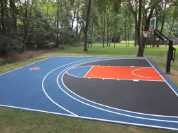 backyard knicks basketball court pictures hoops measurements