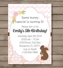 new design bunny birthday party invitations in 2 options u2013