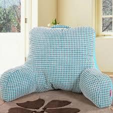 cuscino per leggere a letto bedrest cuscino per guardare la tv e leggere a letto in cotone