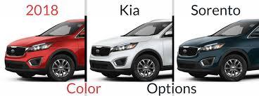 kia sorento color options