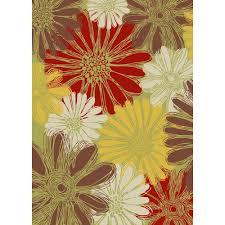 nourison home and garden daisies green 10 ft x 13 ft indoor