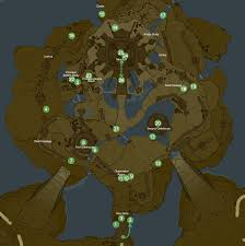 Map Of Hyrule Hyrule Castle Korok Seeds Breath Of The Wild Wikia Fandom
