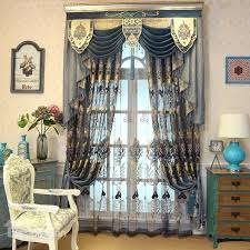 Navy Blue Sheer Curtains Navy Blue Hollowed Out Beautiful Damask Pattern Living Room And