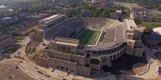 Notre Dame Stadium Map Campus Crossroads University Of Notre Dame