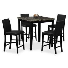 shadow counter height table and 4 chairs black value city