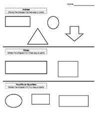 simple worksheet for students to practice partitioning shapes