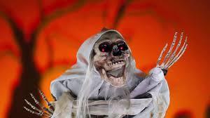 life sized ghoulish skeleton animated prop via trendyhalloween com