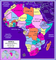 africa map with country names and capitals
