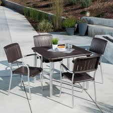 5 patio set musa 5 commercial dining set in caffe by nardi