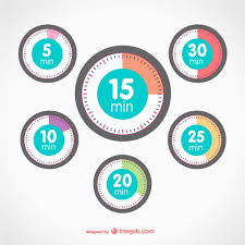 timer elements vector free