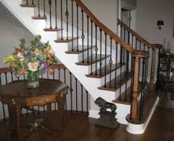Staining Stair Banister Stain Wood Stairs Mountain Laurel Handrails At Http Awoodrailing