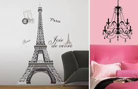 Chandelier Wall Decal Eiffel Tower And Chandelier With Gems Decal Pack