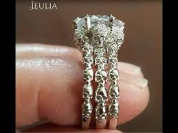 Jeulia Wedding Rings by 3 Band Skull Wedding Rings Skull Wedding Ring Sets