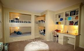 Four Bunk Bed Bunk Room Bunk Beds With Bookcases And Desks Traditional