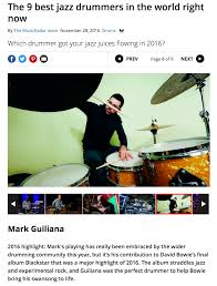 guiliana s the 9 best jazz drummers in the world right now mark guiliana