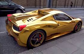 golden cars gold colored ferrari 458 spider spotted in west london auto types