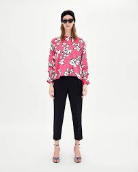 print blouses floral print blouse blouses shirts tops zara united states