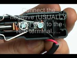 how to wire a car cigaretter lighter plug youtube