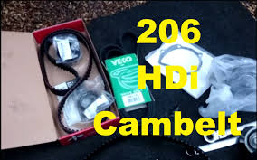 how to peugeot 206 2 0 hdi turbo diesel cambelt change including