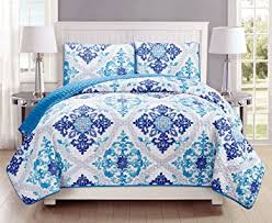 king size coverlets and quilts com 3 piece fine printed quilt set reversible bedspread