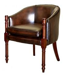 Leather Chesterfield Armchair Lya Traditional Handmade English Leather Chesterfield Tub Chair