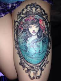 cute thigh tattoos for women little mermaid tattoo flounder ariel and sebastian tats