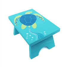 small step stool custom hand painted children u0027s bench seat ocean