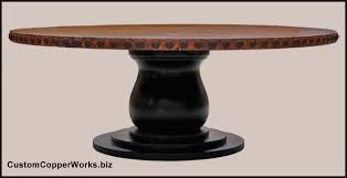 84 round dining table rustic round copper dining table distressed wood pedestal table