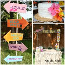 luau party decorations tropical luau party giggles galore bloom designs