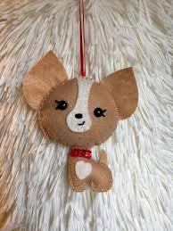 felt chihuahua christmas ornament christmas ornament felting