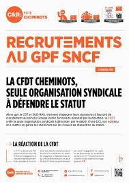 sncf siege social recrutement recrutement au gpf sncf cfdt cheminots dijon