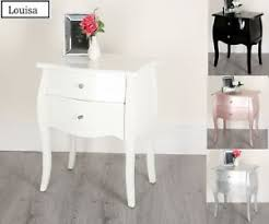 black white silver rose gold bed side 3 drawers chest table