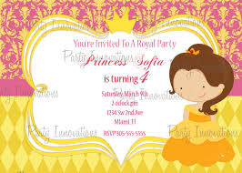 Free Invitation Birthday Cards Printable Princess Belle Birthday Party Invitation Plus Free