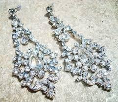 rhinestone chandelier earrings bridal rhinestone chandelier earrings craftstylish