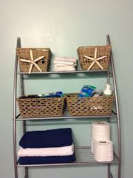 nautical bathroom decor ideas bathroom wicker basket with starfish decor nautical starfish