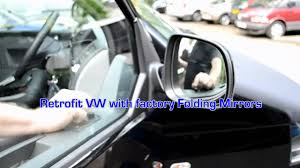 volkswagen van front view vw t5 folding mirrors youtube