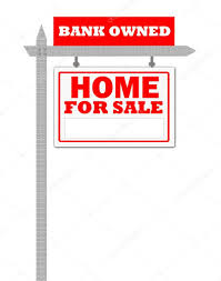real estate home for sale sign bank owned u2014 stock photo