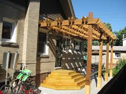 Pergola Deck Designs by Cedar Pergola Deck Design Briar Street Builders