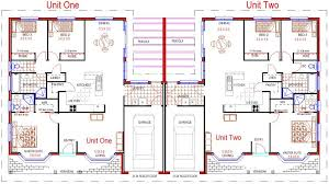 single story duplex floor plans single story duplex with garage duplex and townhouse designs