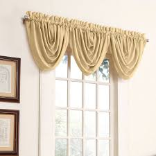 antique satin waterfall valance gold out of stock gallery