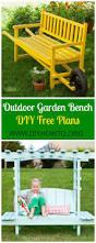 diy outdoor garden bench ideas free plans instructions