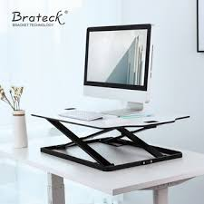 ultra slim height adjustable small office move standing desk