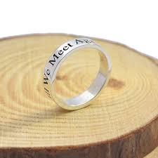 wedding band engraving initial ring personalized 925 solid silver 3mm band engraved words