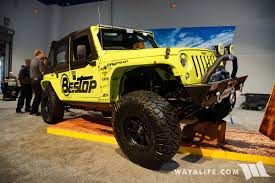 jeep unlimited green 2016 sema bestop lime green jeep jk wrangler unlimited