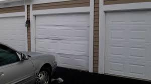 Garage Door Repair Chicago by An Emergency Garage Door Repair We Fixed In Wheaton Il Hit Door
