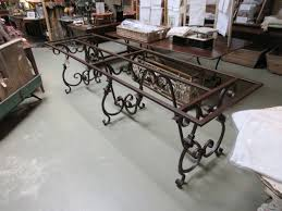 glass dining room table bases home design nice wrought iron dining table bases fine design