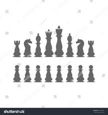 icons chess pieces chess set king stock vector 481425667